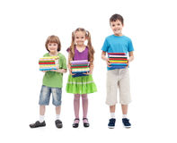 Kids prepared for school Stock Images