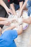 Kids preparing meal Royalty Free Stock Images