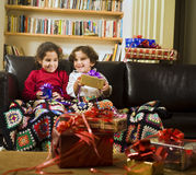 Kids and presents Stock Photography