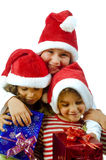 Kids and presents Royalty Free Stock Photography