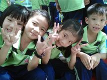Children in primary school on sport day. Kids in primary school on sport day, play games and sport stock images