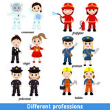 Kids professions Stock Images