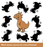 Kids puzzle with a brown cartoon dinosaur Royalty Free Stock Photography