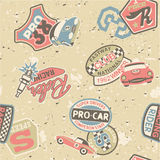Kids racing badges elements Royalty Free Stock Image