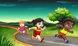 Kids racing Stock Images