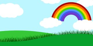 Kids rainbow Landscape Vector Vector Illustration