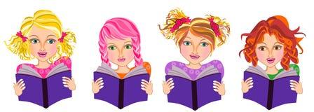 Kids read book Stock Photo