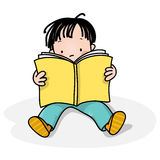 Kids reading Stock Images