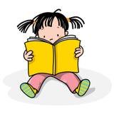 Kids reading royalty free illustration