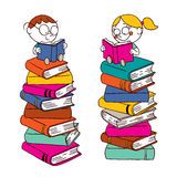 Kids reading Royalty Free Stock Photo