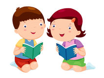 Kids reading books Royalty Free Stock Photos
