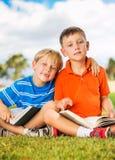 Kids Reading Books Royalty Free Stock Photos