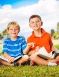 Kids Reading Books Stock Photo