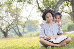 Kids are Reading Stock Image