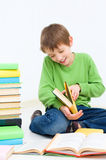 Kids reading stock image