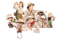 Kids ready for adventure Royalty Free Stock Photos