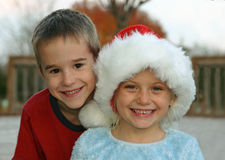 Kids Ready for Christmas Royalty Free Stock Photos