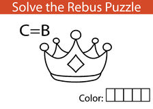 Kids rebus game. Vector illustration of rebus puzzle educational game for children Stock Image