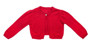 Kids red sweater for girls Stock Image