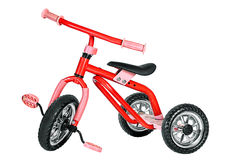 Kids red tricycle Stock Photography