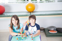 Kids in rehabilitation looking at the camera Stock Image
