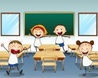 Kids rehearsing inside the classroom Stock Photos