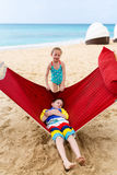 Kids relaxing in hammock Royalty Free Stock Photo