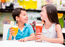Kids at the restaurant Royalty Free Stock Image