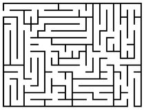 Kids riddle, maze puzzle, labyrinth vector illustration. Labyrinth game for brain, educational game preschool for development Royalty Free Stock Images
