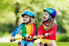 Free Kids Ride Balance Bike In Park Stock Photography - 96984162
