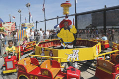 Kids ride at Coney Island Luna Park Royalty Free Stock Photography