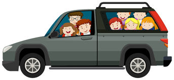 Kids riding on pick up truck Royalty Free Stock Photography