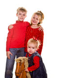 Kids with Rocking Horse Stock Photos