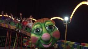 Kids on roller-coaster stock footage