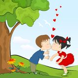 Kids romance Royalty Free Stock Photo