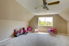 Kids room with amazing window view Royalty Free Stock Photo