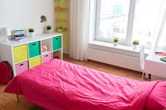 Kids room interior with bed, rack and accessories Stock Photography