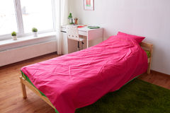 Kids room interior with bed, table and accessories Royalty Free Stock Photography