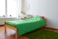 Kids room interior with bed, table and accessories Stock Images