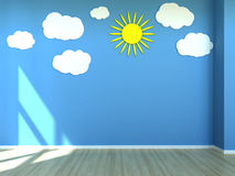 Kids room interior scene royalty free illustration