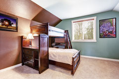 Kids room with loft bed Royalty Free Stock Photography
