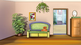 Kids' Room with Sofa and Toys Royalty Free Stock Photo