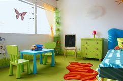 Kids room in vivid colors royalty free stock images