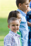 Kids In a Row royalty free stock image