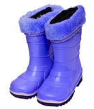 Kids rubber boots Stock Photo