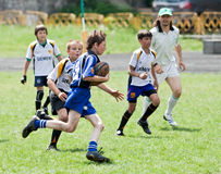 Kids rugby match. Royalty Free Stock Photography