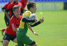 Kids Rugby Players Stock Photography