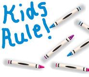 Kids Rule! Royalty Free Stock Photos