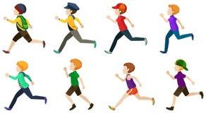 Kids running Stock Photo
