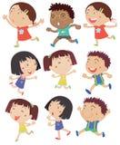 Kids running Stock Photos